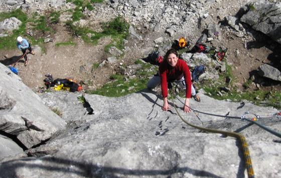 Rock climbing crag