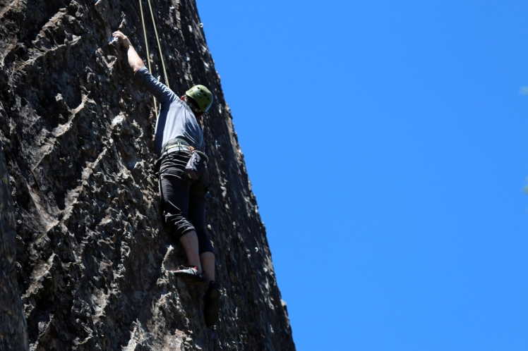 Rock Climbing Outside on Top Rope